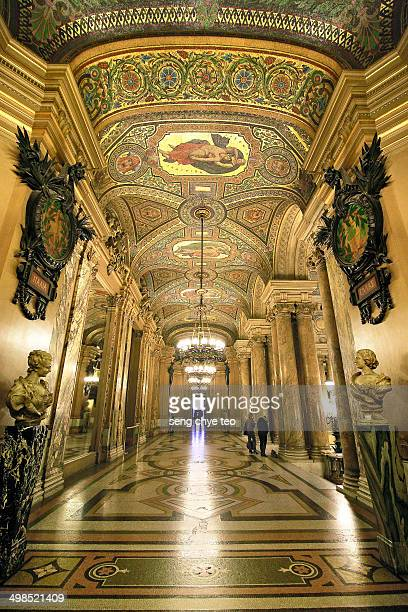 Paris opera house interior with beautiful roof art