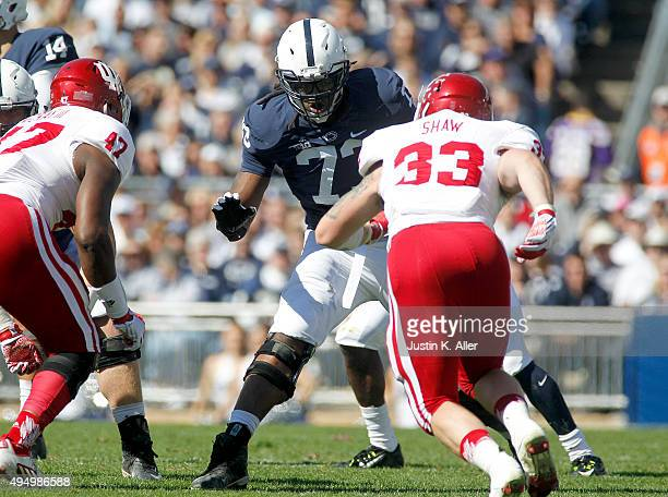 Paris Palmer of the Penn State Nittany Lions in action during the game against the Indiana Hoosiers on October 10, 2015 at Beaver Stadium in State...