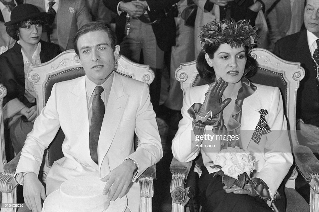 Paloma Picasso, 30, heiress to the one tenth of Pablo Picasso's immense fortune married at the seventh arrondissement townhall of Paris Rafael Lopez Sanchez, 32, of Argentina.