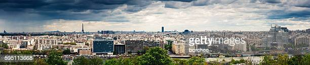panorama de paris - panoramique photos et images de collection