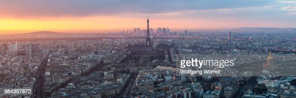 paris panorama - wolfgang wörndl stock pictures, royalty-free photos & images