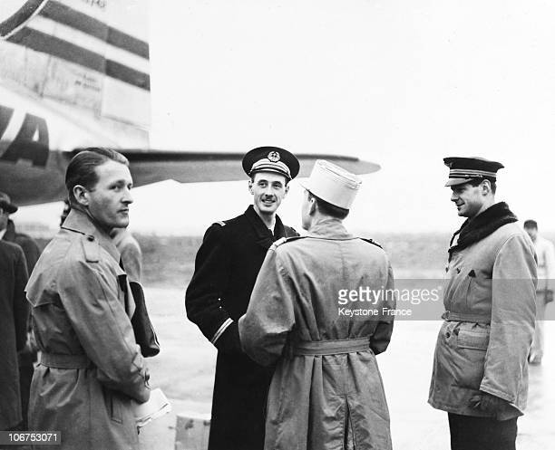 Paris Philippe De Gaulle And Alain De Boissieu In December 1945