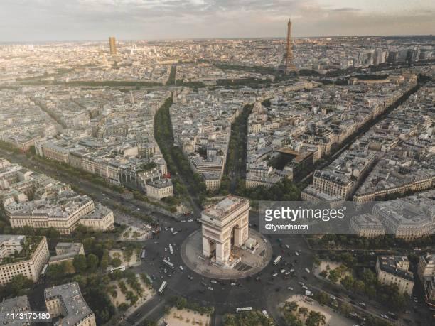 paris - パリ凱旋門 ストックフォトと画像