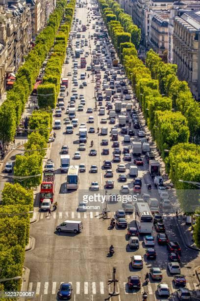 paris - boulevard stock pictures, royalty-free photos & images
