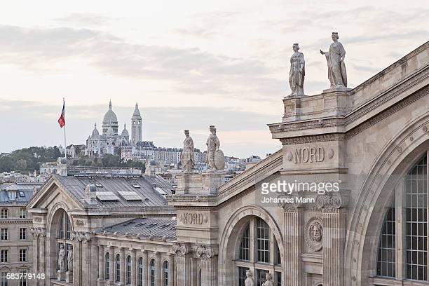 paris - gare du nord stock pictures, royalty-free photos & images