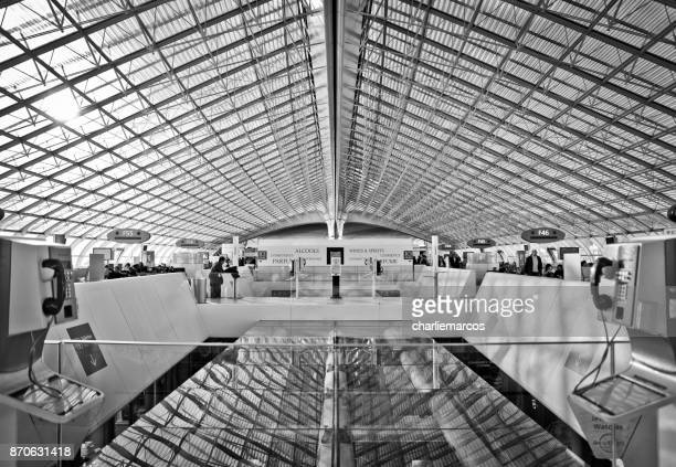 paris - charles de gaulle airport stock photos and pictures