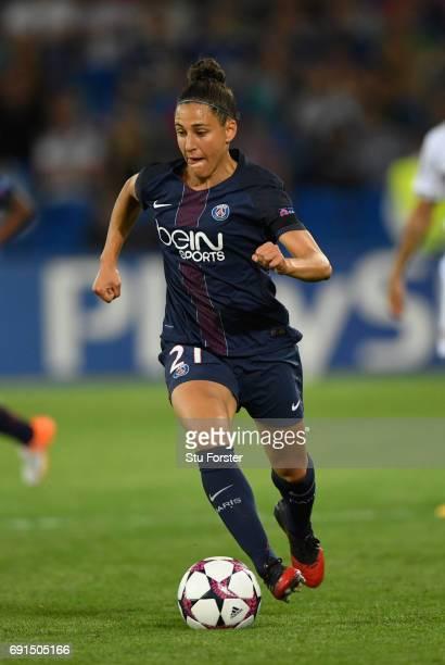 Paris player Veronica Boquete in action during the UEFA Women's Champions League Final between Lyon and Paris Saint Germain at Cardiff City Stadium...