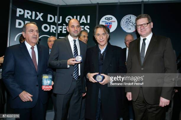 Paris Police Prefect Michel Delpuech writer Sylvain Forge Sponsor of the 2018 Prize Richard Berry and Director of the 'Police Judiciaire' Christian...