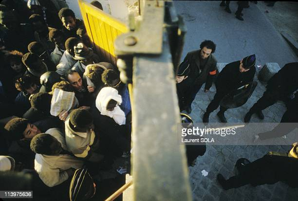 Paris police raid at Ilot Chalon In Paris France On February 05 1984
