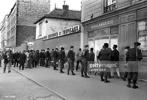 Paris police raid at Ilot Chalon In Paris France On February 14 1984