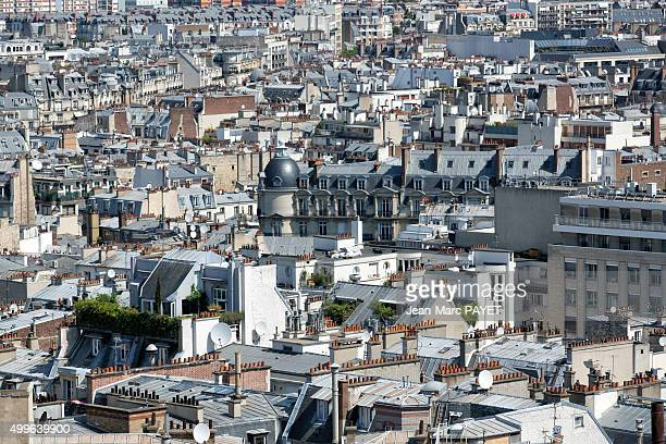 Paris rooftops, cityscape of Paris, France