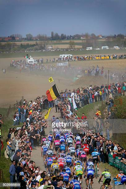 Paris - Roubaix - The peloton near Orchies.