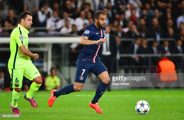 MOURA / XAVI Paris Saint Germain / Barcelone 1/4Finale Aller Champions League Photo Dave Winter / Icon Sport
