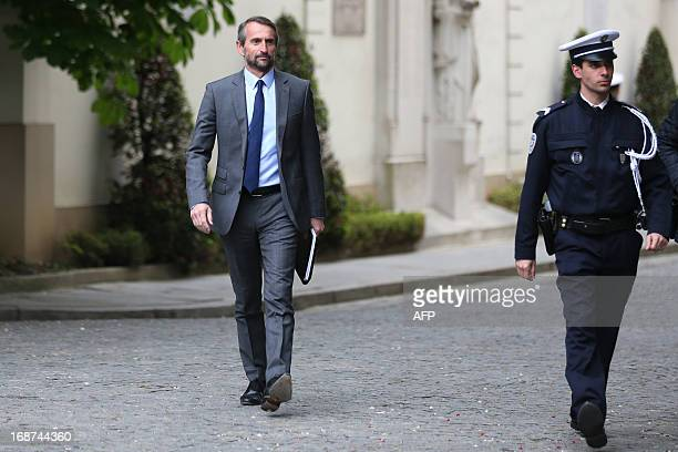 Paris SaintGermain football club's general director JeanClaude Blanc arrives for a security meeting at the Interior ministry on May 14 2013 in Paris...
