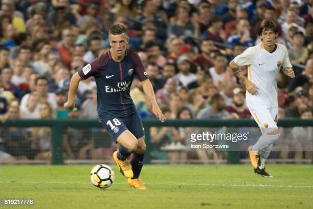 Paris SaintGermain M Giovani Lo Celso moves upfield during the International Champions Cup match between AS Roma and Paris SaintGermain on July 19...