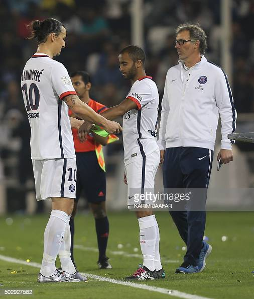 Paris Saint-Germain 's Swedish Forward Zlatan Ibrahimovic