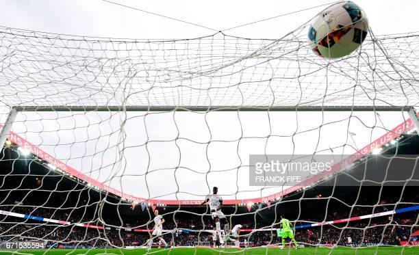 Paris SaintGermain's Argentinian forward Angel Di Maria scores a goal during the French L1 football match between Paris SaintGermain vs Montpellier...