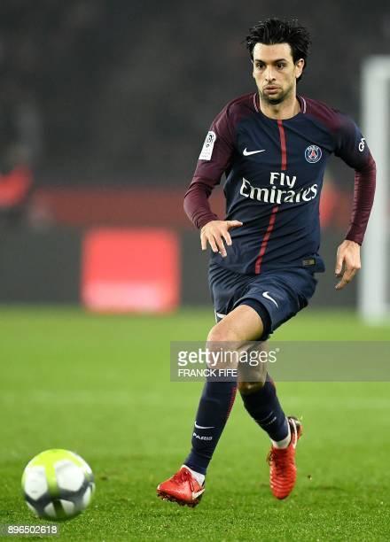 Paris SaintGermain's Argentinian forward Javier Pastore controls the ball during the French L1 football match between Paris SaintGermain and Caen at...