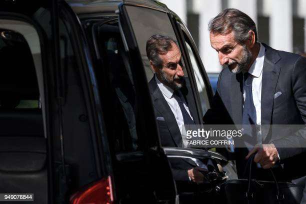 Paris SaintGermain's assistant general manager JeanClaude Blanc embarks a van after a hearing on UEFA Financial Fair Play Regulations at the House of...