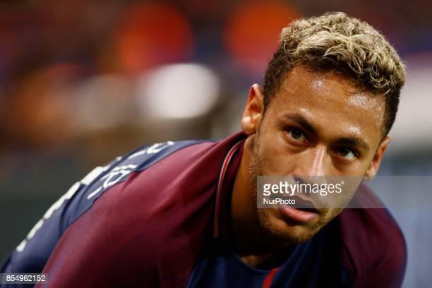 Paris SaintGermain's Brasilian forward Neymar Jr during the UEFA Champions League football match between Paris SaintGermain and Bayern Munich on...