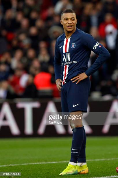 Paris Saint-Germain's French forward Kylian Mbappe during the French L1 football match between Paris Saint-Germain and Dijon, on February 29, 2020 at...