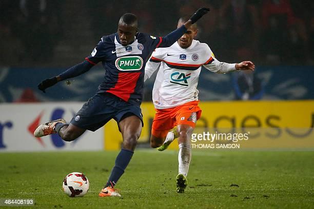 Paris SaintGermain's French midfielder Blaise Matuidi controls the ball during the French Cup football match between Paris SaintGermain and...