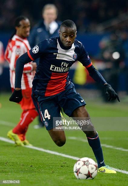 Paris SaintGermain's French midfielder Blaise Matuidi runs with the ball during an UEFA Chanpions League group C football match between Paris...