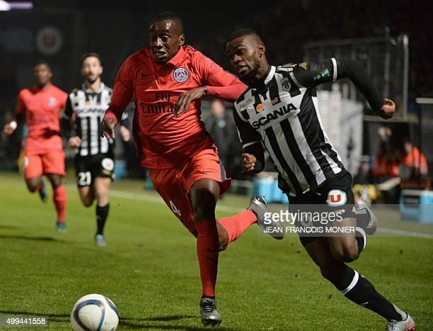 Paris SaintGermain's French midfielder Blaise Matuidi vies with Angers' Guinean midfielder Abdoul Camara during the French L1 football match between...
