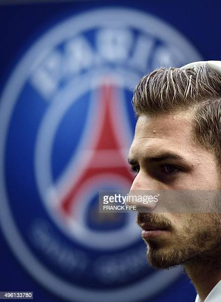 Paris SaintGermain's German goalkeeper Kevin Trapp walks on the pitch before the French L1 football match between Paris SaintGermain and Toulouse on...