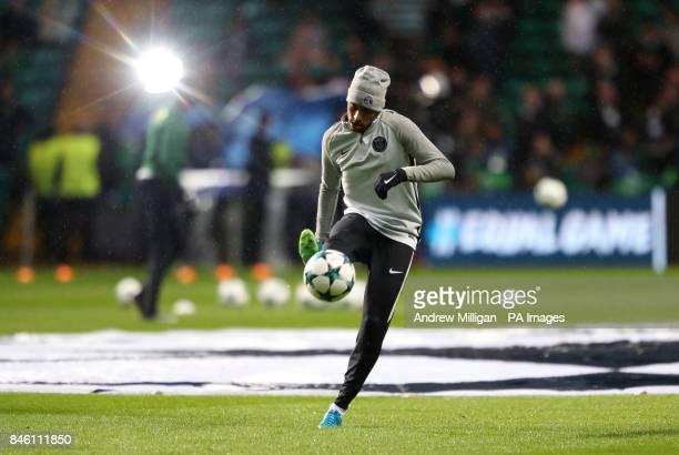 Paris SaintGermain's Junior Neymar before the UEFA Champions League Group B match at Celtic Park Glasgow