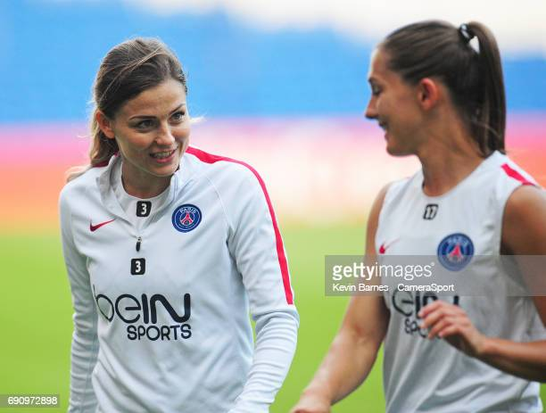 Paris SaintGermain's Laure Boulleau during the UEFA Women's Champions League Final Pre match training session at the Cardiff City Stadium on May 31...