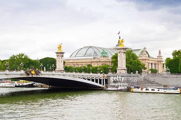 Paris, Seine river et Pont Alexandre III.