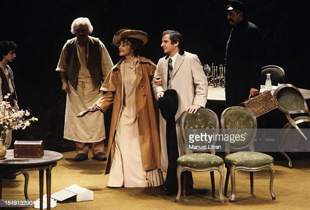 Paris September 29 Representation of the play 'The Seagull' in Tchekkov staged by Michel Aumont Otomar Krejca