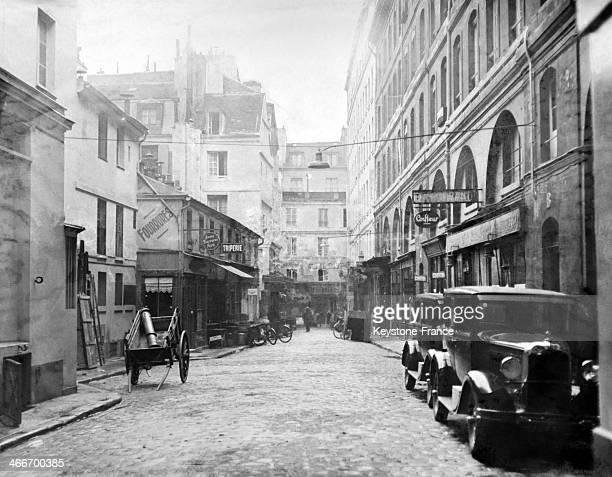 Paris shopping street 'Cite Berryer' in November 1929 in Paris France