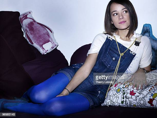singer Alizée poses at a portrait session for Madame Figaro in Paris on November 30 2007