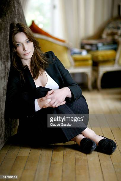 Singer Carla Bruni poses at a portrait session in Paris on June 6 2008