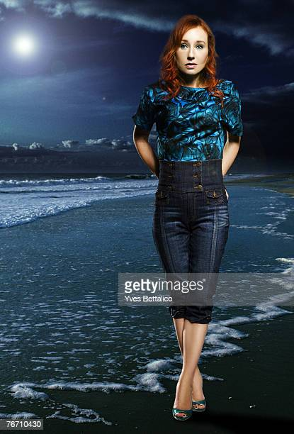 Singer Tori Amos poses at a portrait session in Paris on june 2007
