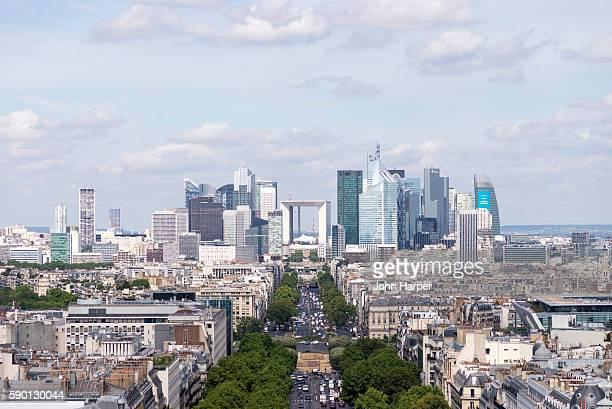 Paris skyline looking towards La Defense, Paris