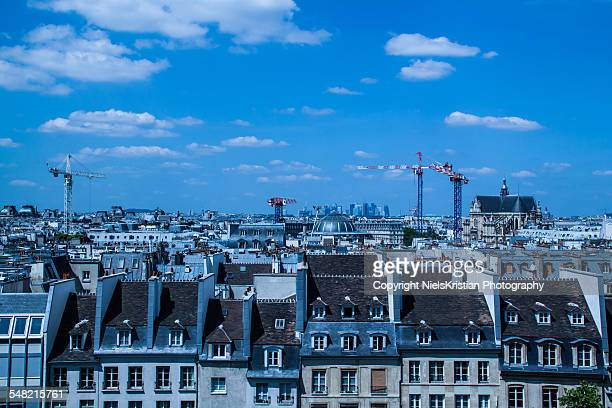 paris skyline - centre pompidou stock pictures, royalty-free photos & images
