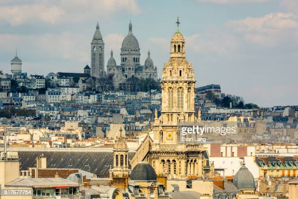 paris skyline - protestantism stock pictures, royalty-free photos & images