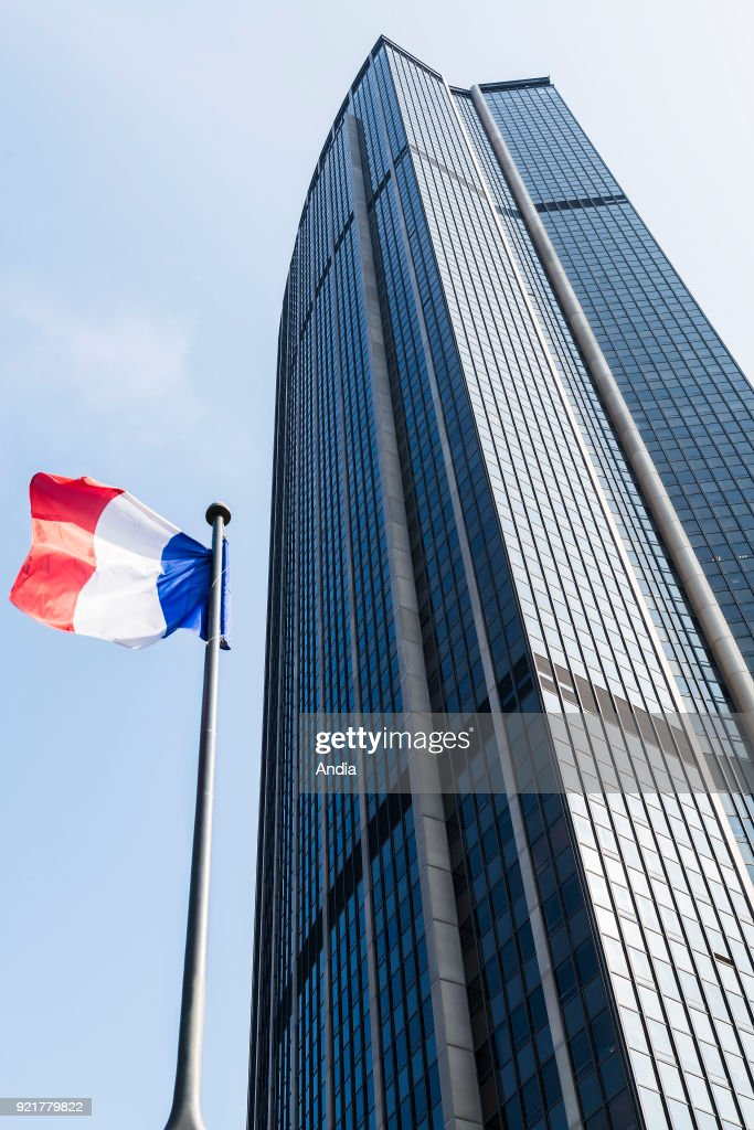 The skyscraper 'tour Montparnasse'. : News Photo