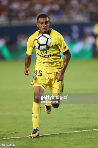 Paris St Germain Antoine Bernede chases the ball during the International Champions Cup match between Tottenham Hotspur and Paris St Germain on July...