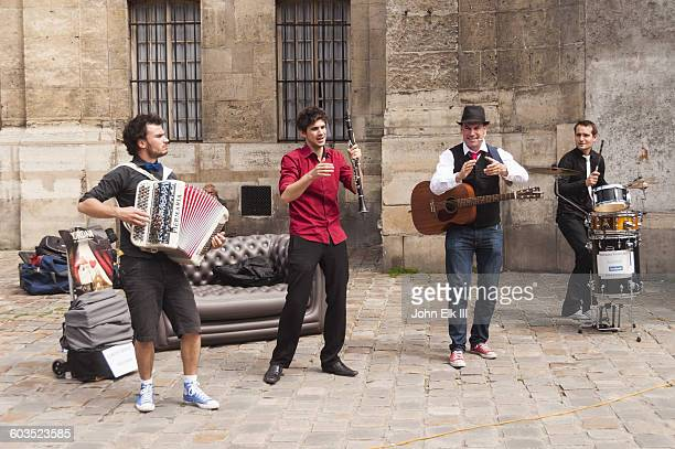 Paris, St Germain des Pres, street musicians