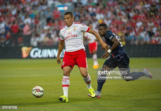 Paris St Germain's Lima and SL Benfica's Serge Aurier in the International Champions Cup in Toronto