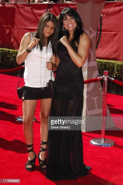 Paris St John and Mia St John boxer during 2006 ESPY Awards Arrivals at Kodak Theatre in Los Angeles California United States
