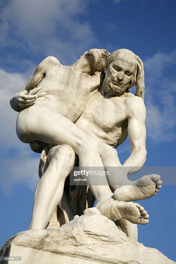 Paris - Statue of The Good Samaritan : Stock Photo