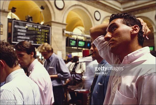 Paris stock exchange during Gulf crisis