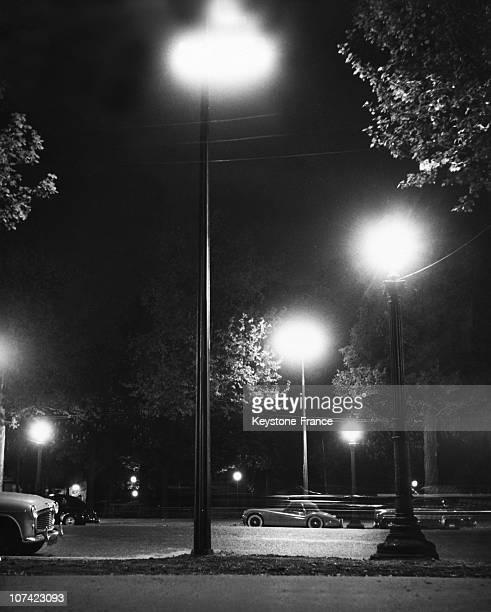 Paris Street At Night In France