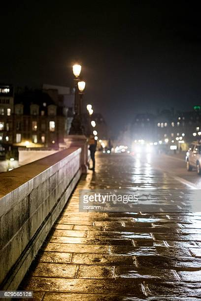 Paris street lights at night