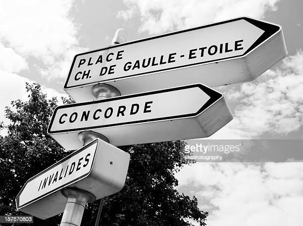 Paris Street panneaux en noir et blanc